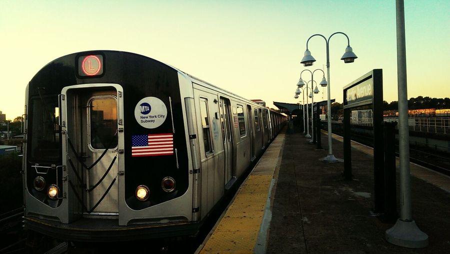 """""""Evening L, East New York, Brooklyn"""" Commuting Public Transportation NYC Brooklyn"""