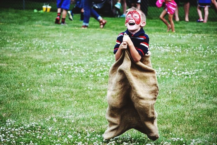 Sack race Fun And Games Forth Of July BoysOfSummer2016 Outdoors Contest Smiles For Miles