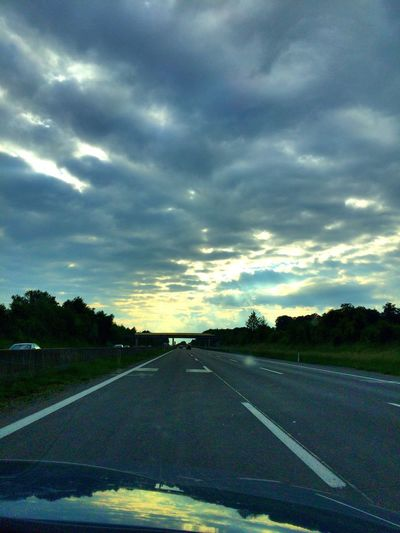 Austria Sky Collection Light Sky Wiew From My Car Taking Photos Beautiful ♥ Sunset Good Times View From Car