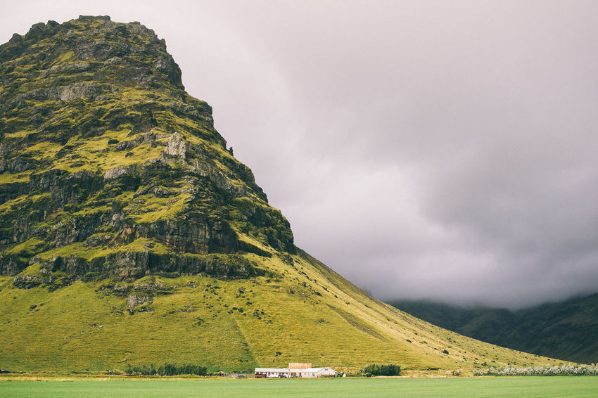 Beauty In Nature Cliff Coulds And Sky Day Farm Iceland Nature No People Outdoors Outdoors Photograpghy  Scenics Sky Travel