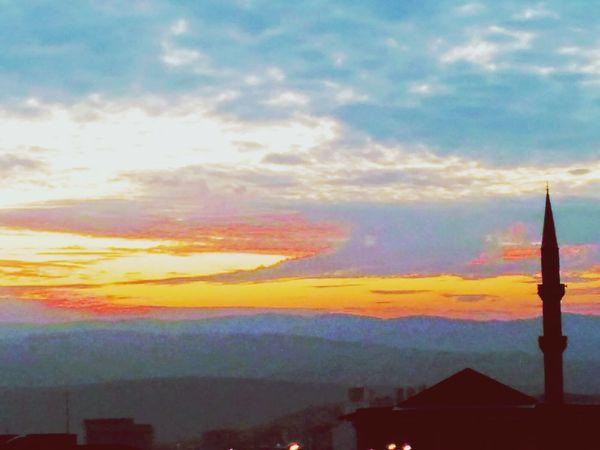 Gokyuzu EyeEmNewHere Sunset Architecture Travel Destinations Building Exterior Built Structure Cloud - Sky Sky
