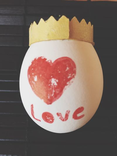Egg with heart,