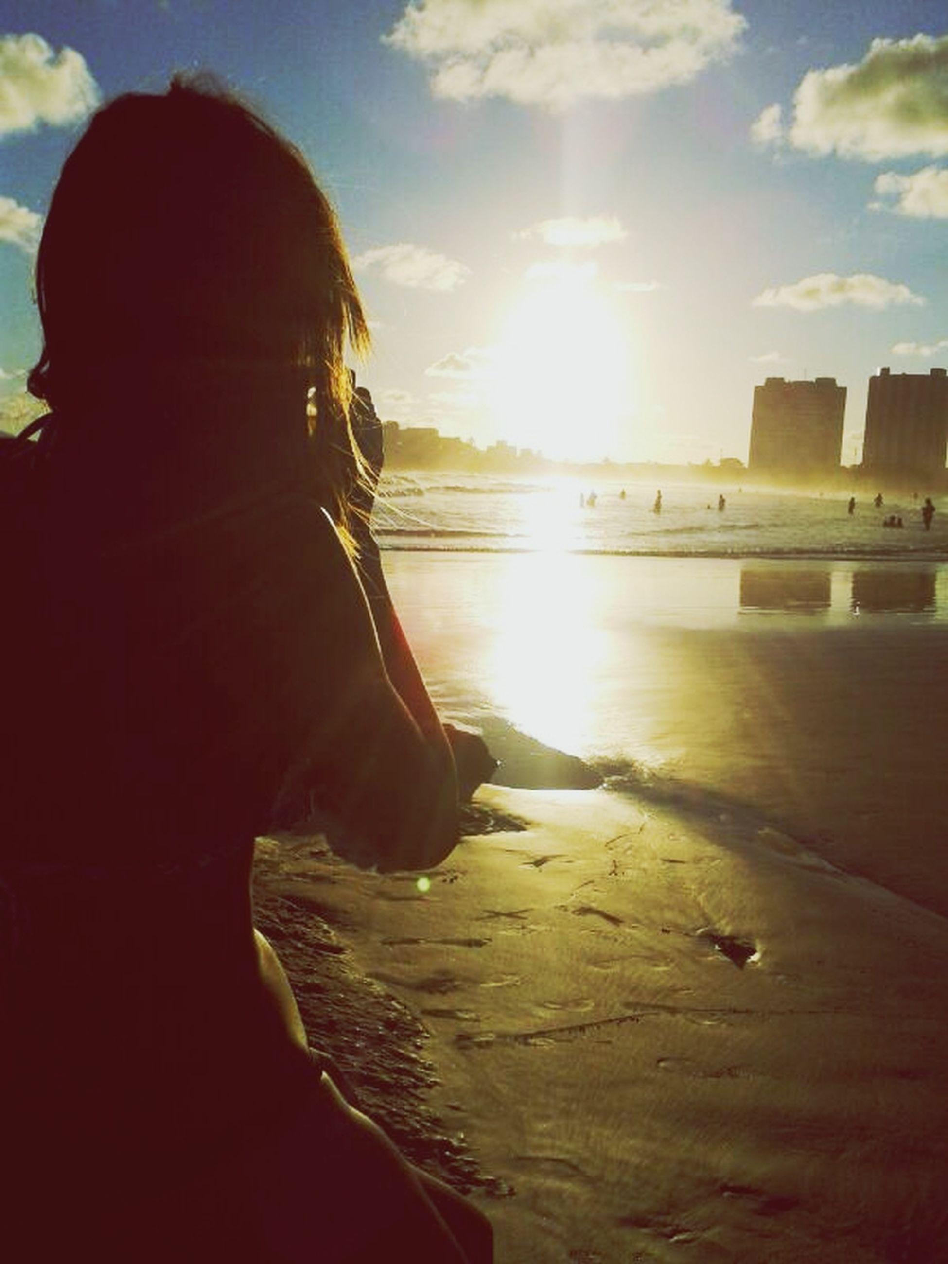 sun, water, sky, sea, sunset, sunlight, sunbeam, beach, lens flare, nature, scenics, tranquility, beauty in nature, tranquil scene, cloud - sky, horizon over water, leisure activity, lifestyles