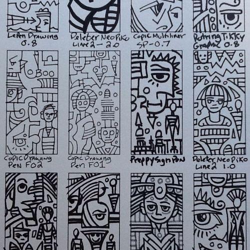Testing various pens. Art Drawing Marker