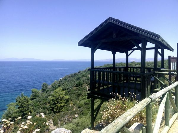 Kalamaki Forest Sea Between Greece And Turkey View Four Bay