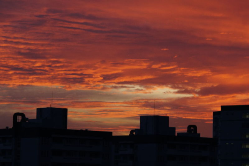 Architecture Beauty In Nature Building Exterior Built Structure City Cityscape Cloud - Sky Nature No People Orange Color Outdoors Residential  Silhouette Sky Skyscraper Sunset