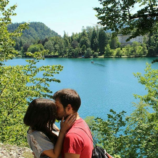 Bled, Slovenia Lake View Happy Couple Couple Love Is In The Air Kissing Happyday Perfection Enjoying The View Holydays
