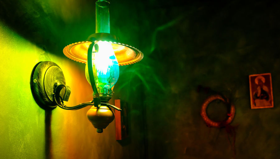 Rustic Smoke Bieszczady Close-up Creativity Electric Light Electricity  Focus On Foreground Folk Glass - Material Glowing Green Color Hanging Illuminated Indoors  Lamp Light Light Bulb Lighting Equipment Luminosity Moody Night No People Steampunk