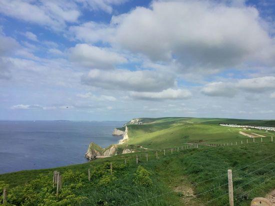 Dorset Seafront The Great Outdoors - 2016 EyeEm Awards Blue Sky Clouds Coast Coastline Green Grass Sky England Uk United Kingdom