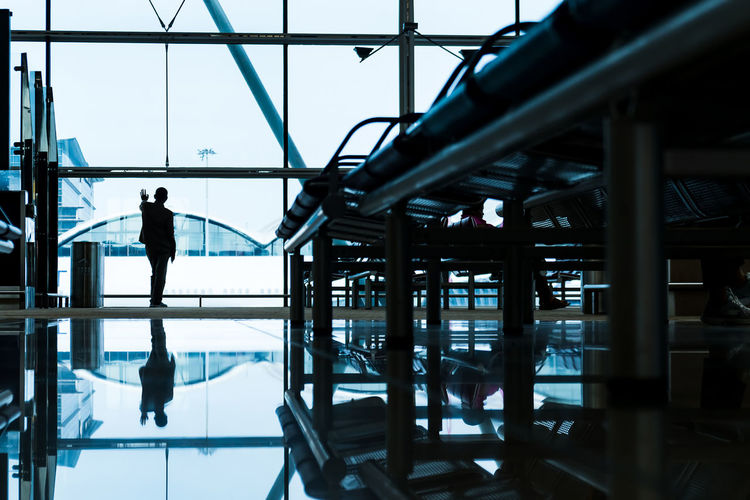 Architecture Travel Destinations Standing Human Body Part Transportation Alone Businessman Traffic Airport Departure Area