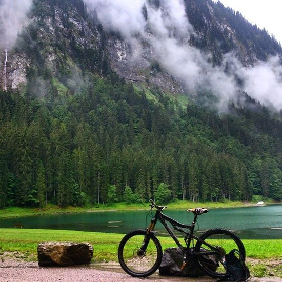 Casual ride from France to Switzerland and back today like you do! Alps Portesdusoleil MBUK Wheremybiketakesme