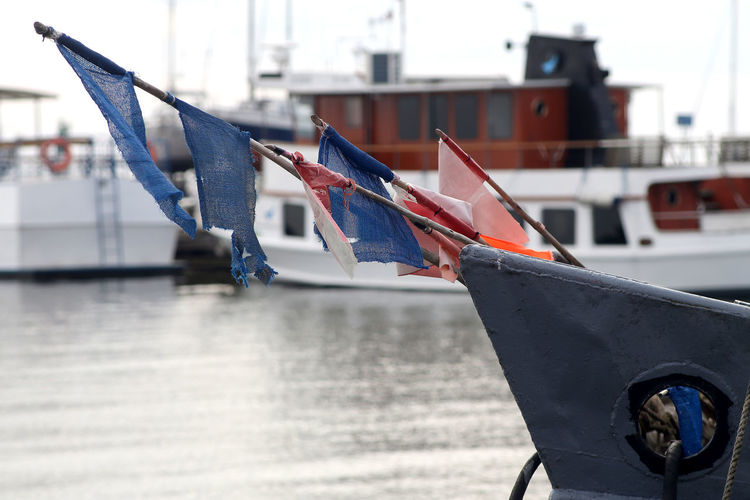 Close-up of flag against built structure