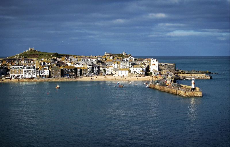 Architecture Beauty In Nature Blue Building Exterior Built Structure Cloud - Sky Day History Horizon Over Water House Mountain Nature No People Outdoors Scenics Sea Sky St. Ives Cornwall Town Travel Destinations Water Waterfront