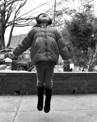 Blackandwhite Siblings Paranormal Winter Outdoors Having Fun Fun