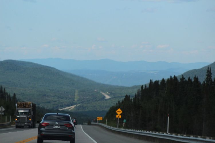 Roads & roads & roads Road Mountain Landscape Outdoors Tree The Way Forward Car Nature Day Sky Road Trip Beauty In Nature CanonT6 Quebec Québec Canada Canada