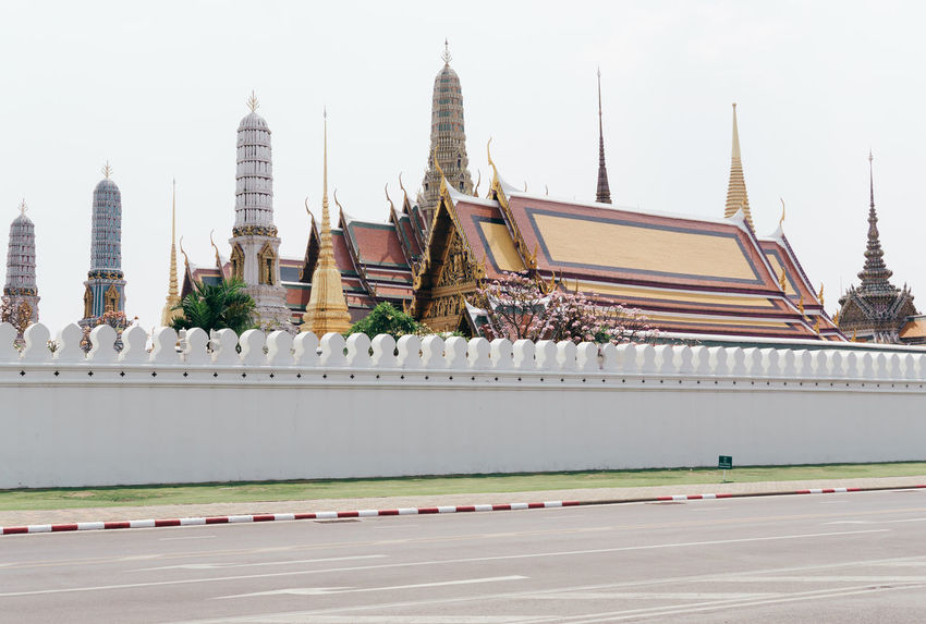 Bangkok Grand Palace Bangkok Thailand Thailand Travel Travel Photography Traveling Architecture Building Exterior Day No People Outdoors Palace Pastel Travel Destinations