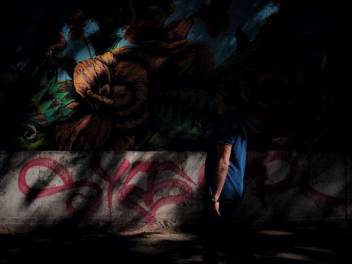 Abstract shadows EyeEm Best Shots Graffiti Abstract Light And Shadow One Person Real People Creativity Textile Art And Craft Lifestyles Pattern