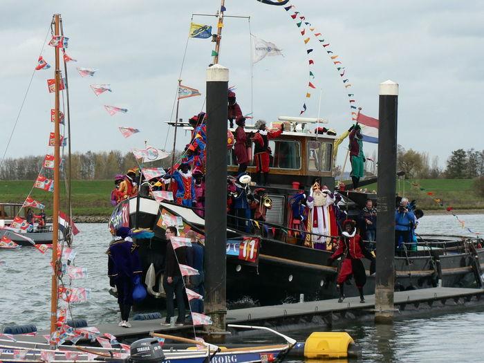 Intochtsinterklaas Large Group Of People Multi Colored Outdoors Sinterklaas