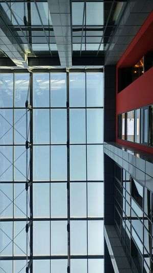 Architecture Built Structure Modern Sky Perspective Down Window Glass - Material Building Photography Architecture Modern