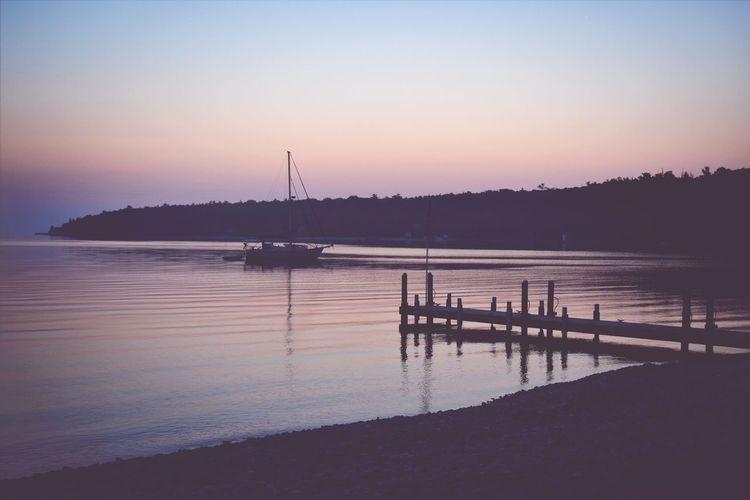 The beautiful sunrise on the beach of Lake Michigan! Beautiful Sunrise Lake Michigan Peaceful View