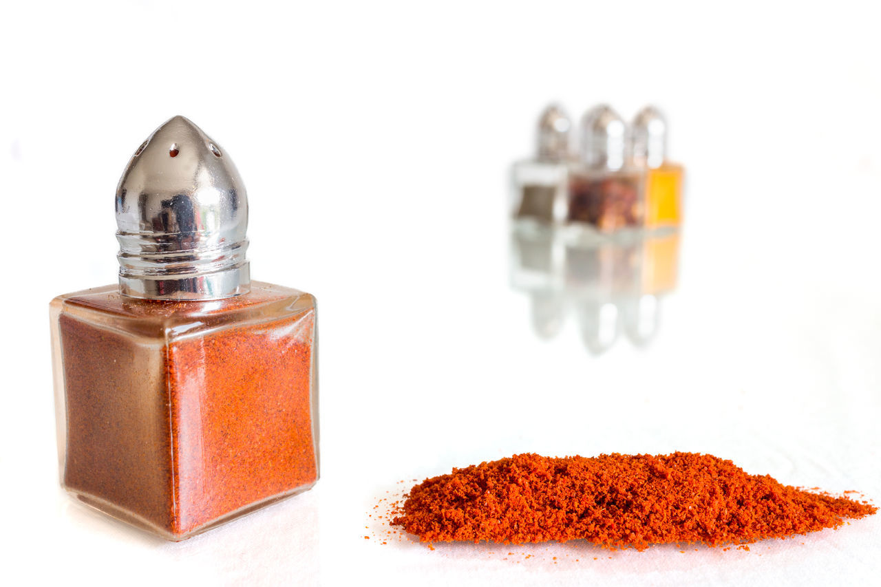 Close-Up Of Spices On White Background