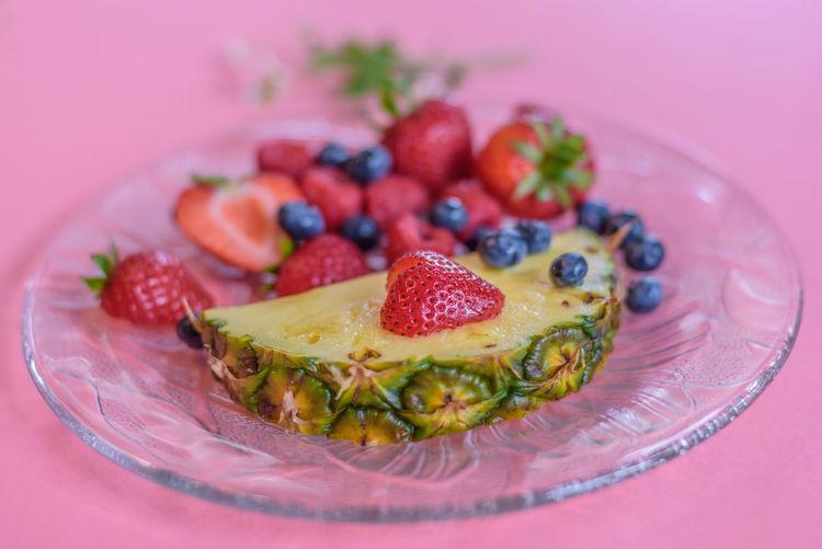 Dessert Food Food And Drink Food Inspiration Freshness Fruit Healthy Eating Indoors  Pastel Colors Pink Color Plate Ready-to-eat SLICE Studio Shot Sweet Food