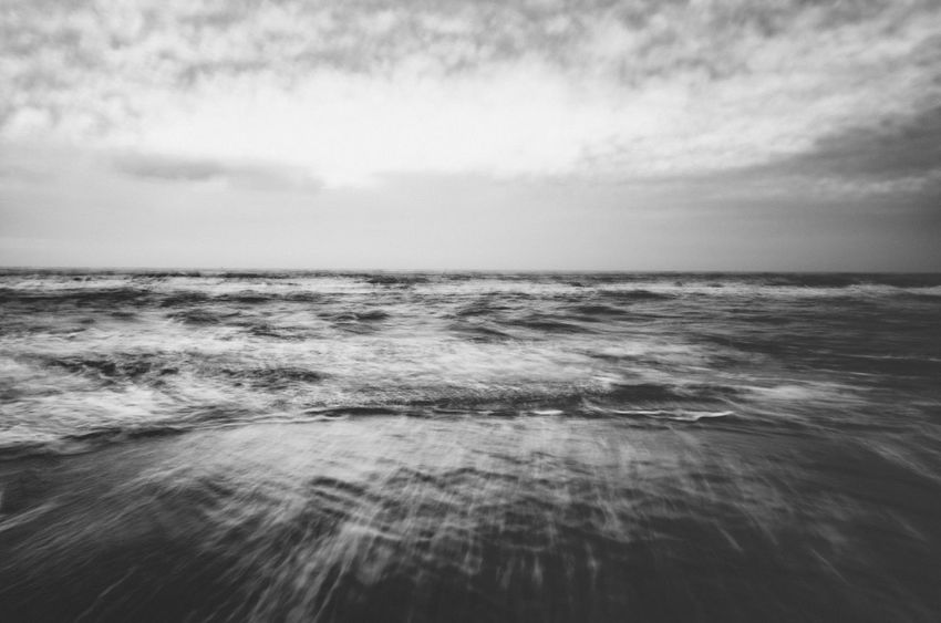 Abstracts of North Sea Motion Blur Abstract Black And White Blurred Motion Day Nature Sea Water Waterfront