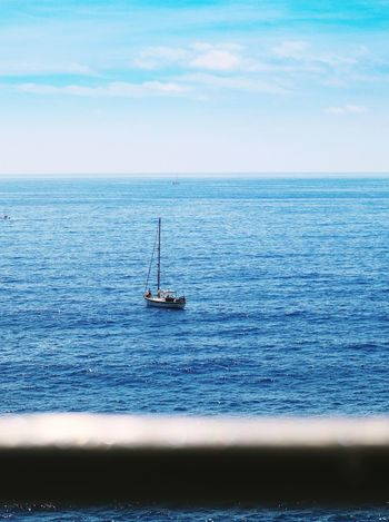 What's on the other side? Explore Sea Water Horizon Over Water Scenics Sky Nature Tranquility Tranquil Scene Nautical Vessel No People Waterfront Beauty In Nature Blue Sailing