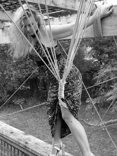 Black And White Capture Capture The Moment Caught Full Length Hanging Out Leisure Activity Open Edit Real People Rope Tied Web Women Showcase: November Untold Stories Picturing Individuality