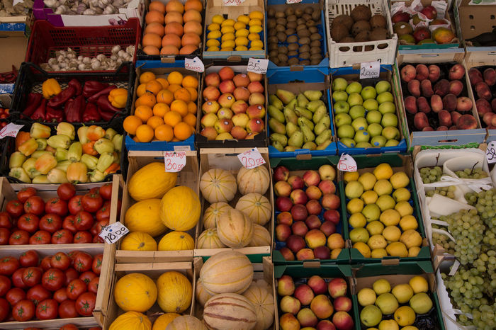 Apricots Melons Abundance Apples Choice Day Food Food And Drink For Sale Freshness Fruit Healthy Eating Large Group Of Objects Market Market Stall Multi Colored No People Orange - Fruit Outdoors Peach Peaches Pear Peperoni Tomatoes Variation