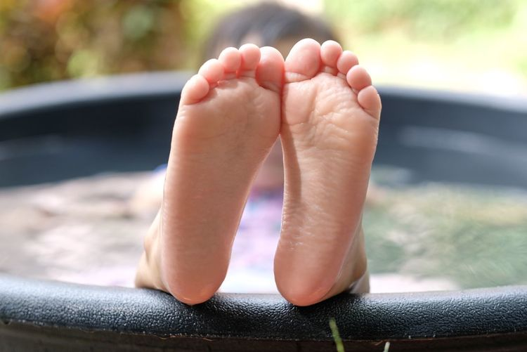 The feet of