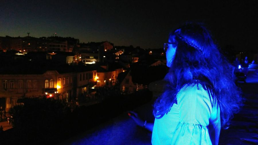 looking forward. always to the future. HUAWEI Photo Award: After Dark City Illuminated Cityscape Blue Celebration Sky Lantern Old Town TOWNSCAPE Housing Settlement Rooftop Town