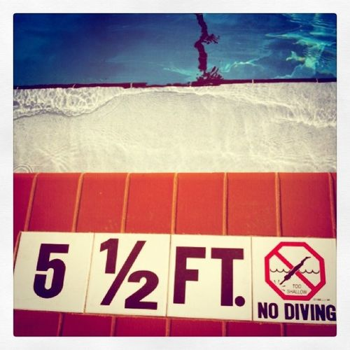no diving Nodiving Pool Florida