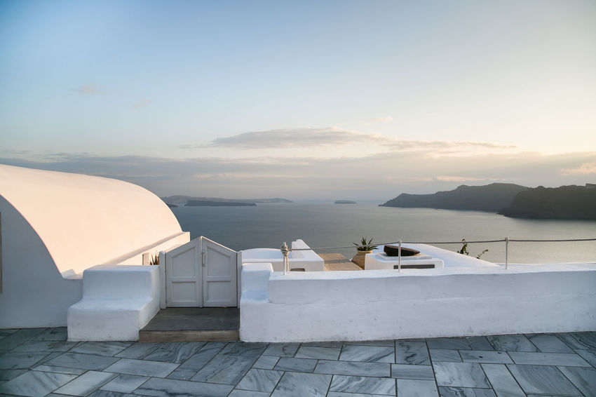 Sunset in Santorini, Greece Architecture Beautiful Fira Santorini Greek Islands Holiday Love Romantic Santorini Island Santorini, Greece Day Greece Luxury Nature No People Oia Outdoors Romantic Sunset Santorini Sea Sunset Travel Destinations Vacation Water White Architecture White Background