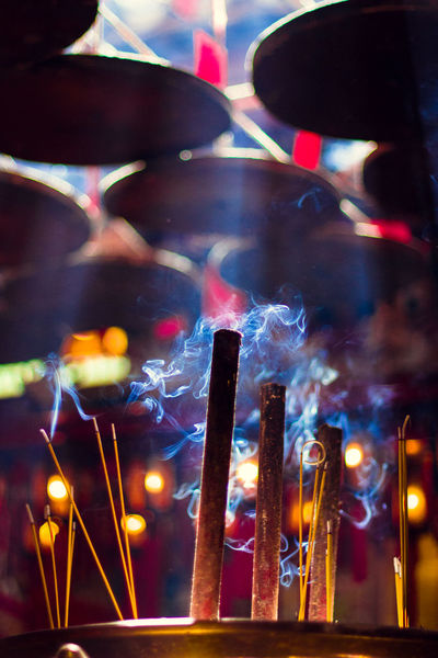 Burning Celebration Glowing Hong Kong I Love Hong Kong Illuminated Incense Incense Sticks Altars