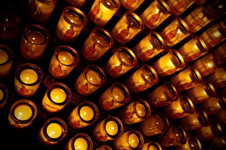 Close-up of illuminated objects