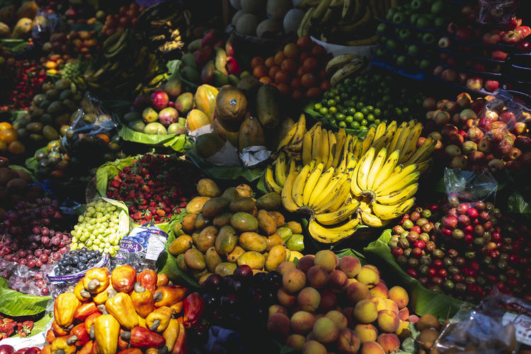 Abundance Banana Berry Fruit Choice Day Food Food And Drink For Sale Freshness Fruit Healthy Eating Large Group Of Objects Lychee Market Market Stall Multi Colored No People Retail  Retail Display Ripe Sale Small Business Variation Variety Wellbeing