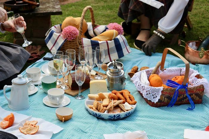 Happy time Breathing Space Food And Drink Pic-nic Vintage Style Basket Enjoying Life Food Food And Drink Freshness Fruits Garden Ground Healthy Eating Human Body Part Human Hand Leisure Activity Outdoors Party - Social Event Plate Ready-to-eat Socializing Tea Time Togetherness Women