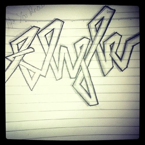 Flyk Flowlikeyouknow Graffiti Sketch