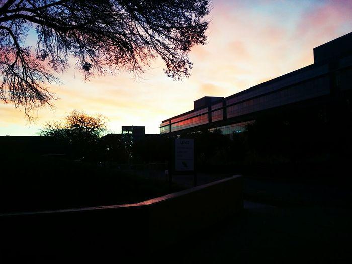 Sunrise Colors Sunrise Fall Colors Sunrise Reflection Windows College Campus Business Leadership Building