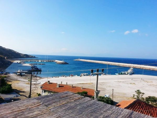 Sea Beach Water Horizon Over Water Nautical Vessel Vacations Travel Destinations Nature Outdoors Sand Day Sky Blue Beauty In Nature No People Babakale çanakkale Peace And Quiet Peaceful Summertime Cityscape
