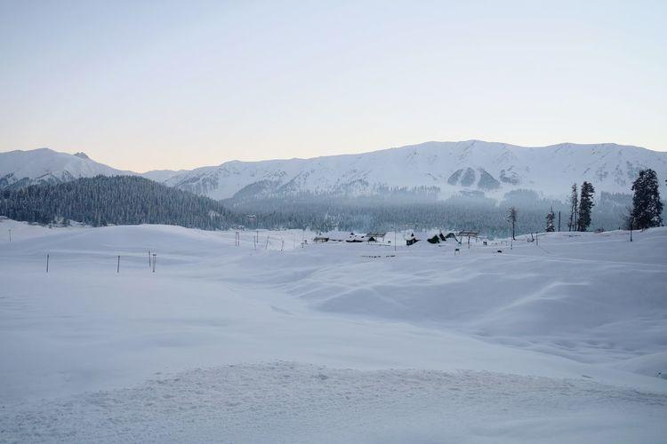 Gulmarg kashmir, snow covered mountains, ski resort