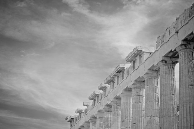 Greece Athens Blackandwhite Black And White Black & White Cruise Ship Tranquility Tranquil Scene Travel Travel Destinations Traveling Travel Photography EyeEmNewHere EyeEm Best Shots EyeEm Nature Lover EyeEm Selects EyeEm Gallery Journey Idyllic Mediterranean  Antique Palace Nikon Nikonphotography Sea Seascape Sea Life Seaside Architecture Built Structure Sky Cloud - Sky Building Exterior No People Low Angle View Day Nature Architectural Column History The Past Outdoors Building Tourism Bridge Wall - Building Feature Place Of Worship Ancient Civilization Colonnade 17.62°