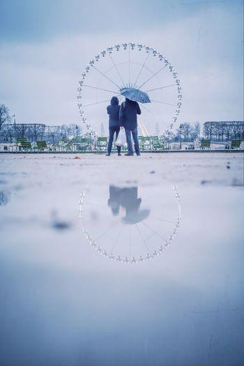 Ferris wheel against the sky