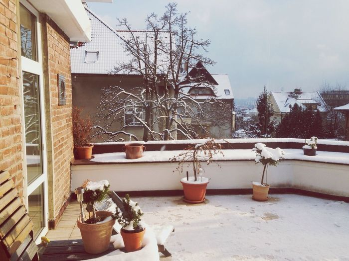 My Stage Taking Photos My Place Winter My Terrace My Territory Snow ❄ Prague Hello World That's Me Here Is Me January Cold Days Beautiful Snow Day Romantic My Day Off