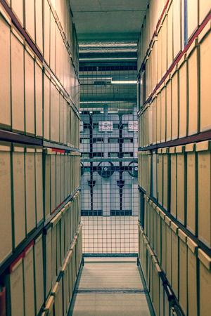 Archive of the Volkswagen library Berlin. Berlin Berliner Berliner Ansichten Library Library Book Books Archive Basement Explore Walking Around Locked No People Tranquility Symmetry Symmetrical Zoologischergarten Bibliothek Old Buildings Old Exploring