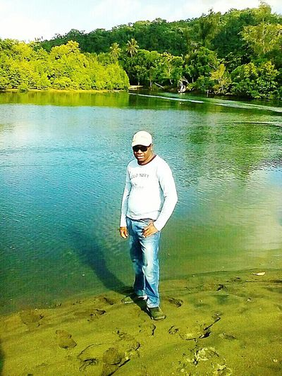 Standing By The River Sidee Water Mid Adult Full Length One Person Only Men One Man Only Standing