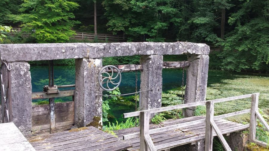 View of wooden gate