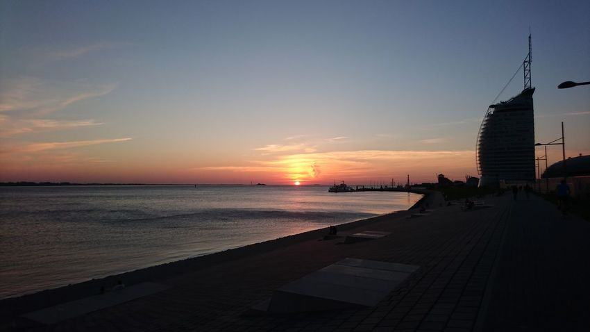 Sunset Sea City Sky Water