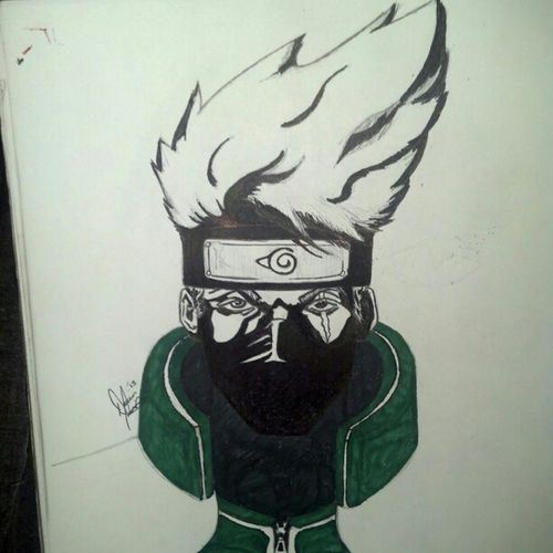 Finished! Kakashi Narutofanart Sketch Art
